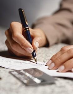 человек с ручкой