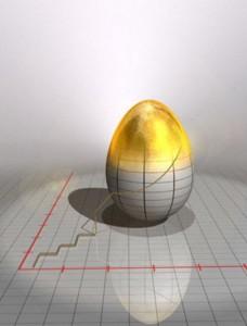 золотое яйцо на графике
